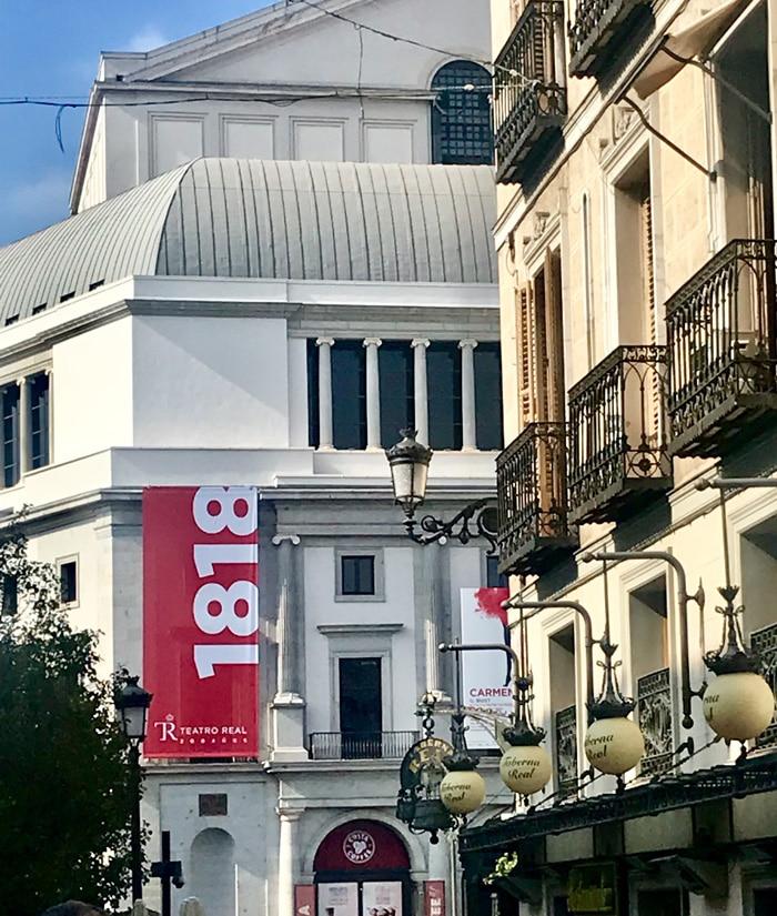 Exterior del Teatro Real