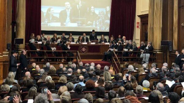 Roger Torrent en su discurso ante los jueces