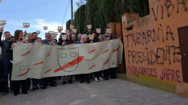 Manifestación en apoyo a Albert Boadella en Jafre (Gerona)
