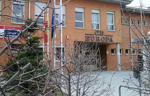 El colegio Europa, en Pinto (Madrid)