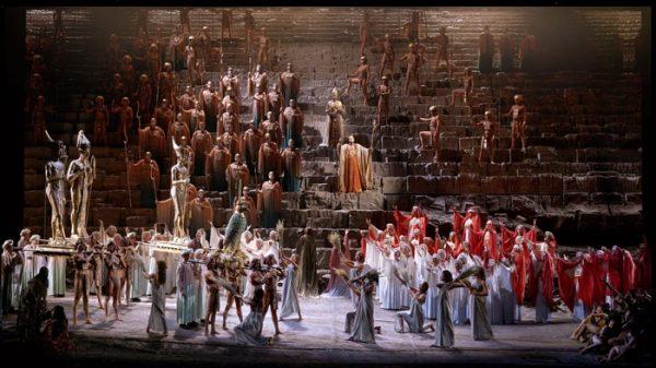 Un momento de la ópera 'Aida'