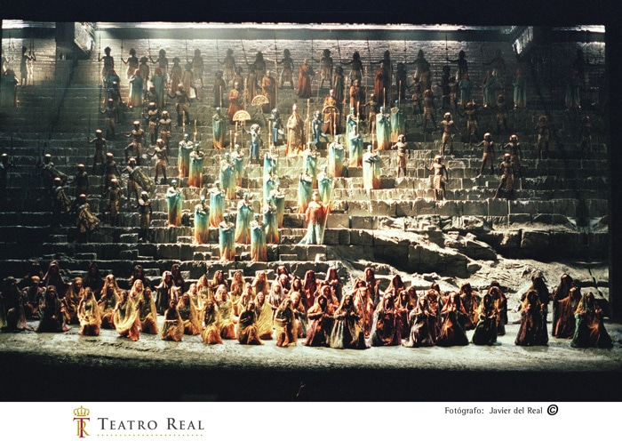 Un momento del montaje de 'Aida'