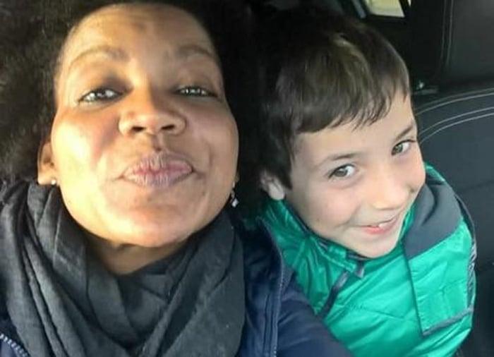 Ana Julia con el pequeño Gabriel