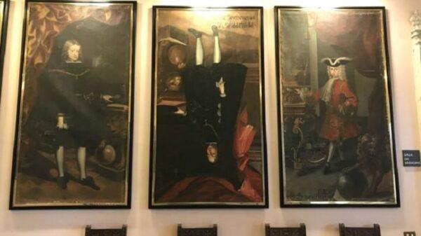 El cuadro de Felipe V boca abajo en Cervera
