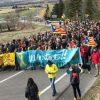 Independentistas montan una manifestación hasta el municipio de Das