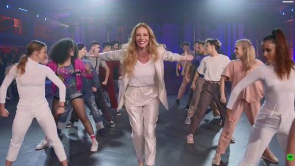 Paula Vázquez en el estreno de 'Fama, ¡a bailar!'