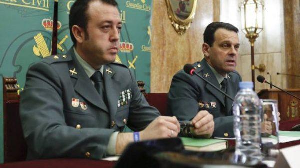 Los mandos de la Guardia Civil que han explicado en rueda de prensa los detalles de la investigación del 'caso Gabriel'