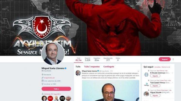 La cuenta de Twitter de Miquel Iceta, hackeada