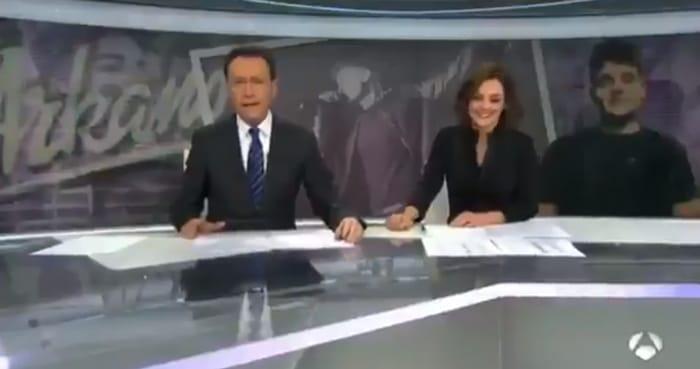 Matías Prats con Mónica Carrillo
