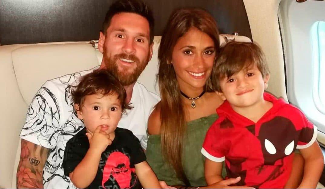 Leo Messi, Antonela Roccuzzo y los pequeños Mateo y Thiago