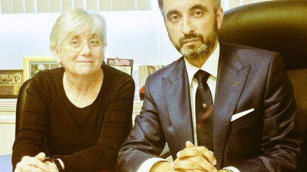 Clara Ponsatí y su abogado
