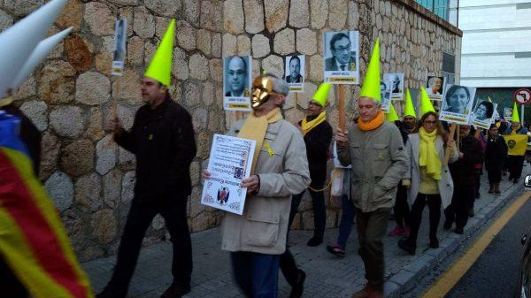 Procesión independentista en Tarragona
