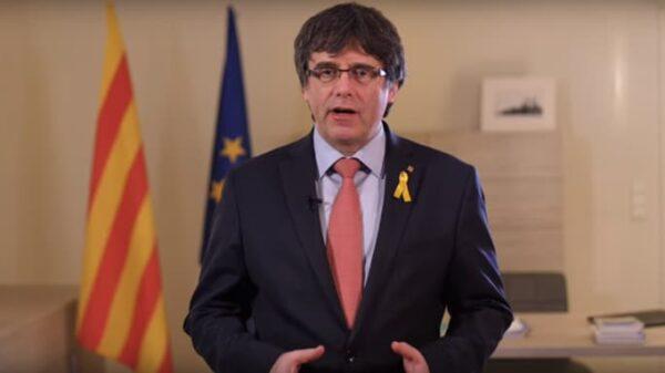 Carles Puigdemont en su discurso