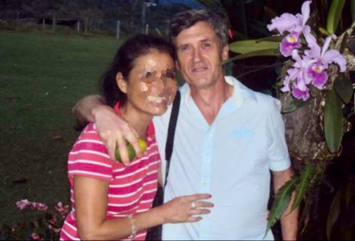 Jordi Magentí con su actual pareja, Nancy