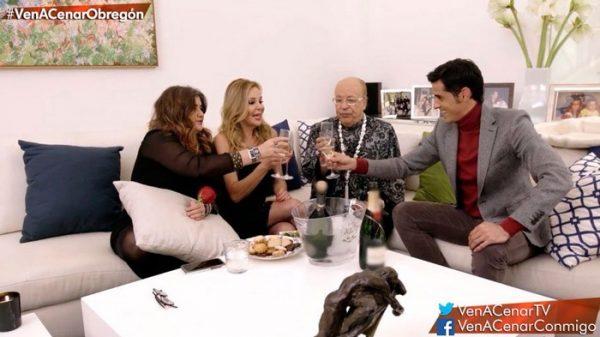 Etxebarría, Obregón, Rappel y Janeiro en 'Ven a cenar conmigo'