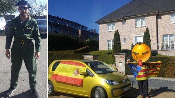 Democracia y Unidad Española ha enviado a varios individuos a la residencia de Puigdemont en Waterloo