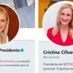Cifuentes y sus cuentas de Twitter