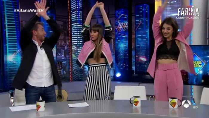 Aitana y Ana Guerra en 'El Hormiguero'