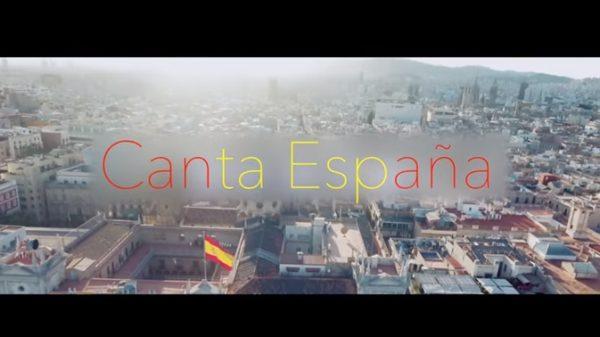 Parte del videoclip de 'Canta España'