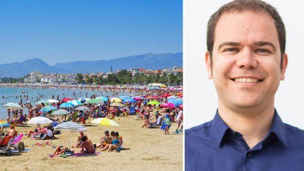 La playa de Cambrils y Eduard Pellicer