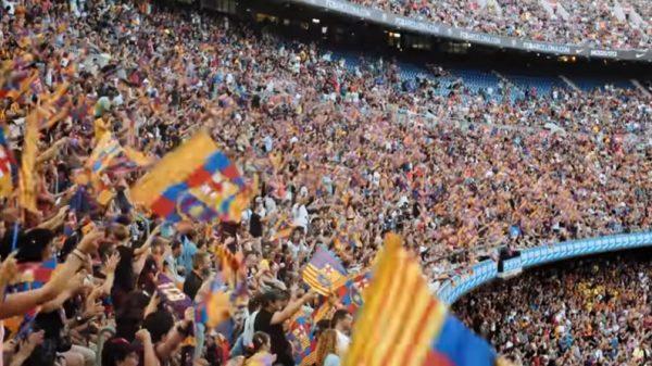 Imagen del Camp Nou en el vídeo del Ayuntamiento de Barcelona