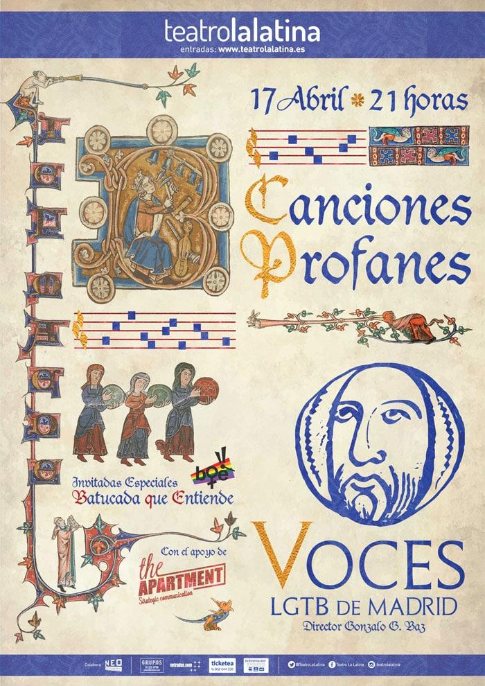 Cartel del nuevo espectáculo de Voces LGTB de Madrid