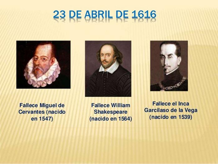 Cervantes, Shakespeare y Garcilaso