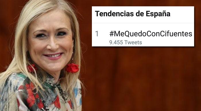 Cristina Cifuentes y el trending topic #MeQuedoConCifuentes