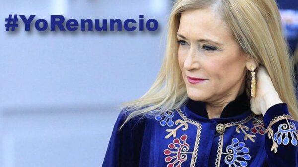 Cristina Cifuentes y la etiqueta #YoRenuncio