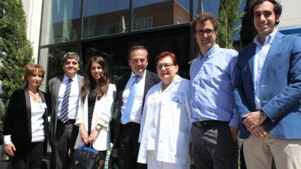 El doctor Albi junto al resto de organizadores de la II Jornada de Actualización