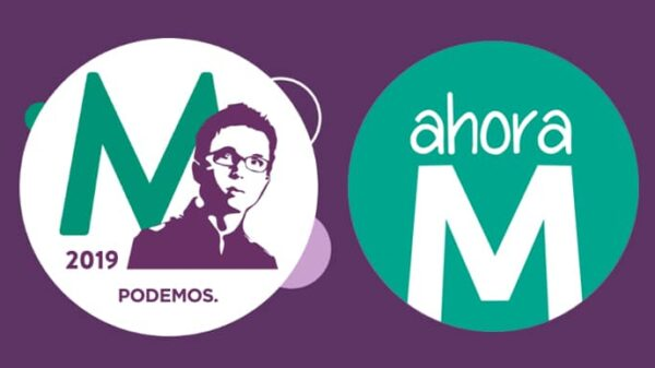 El logo de la candidatura de Errejón y el de Ahora Madrid