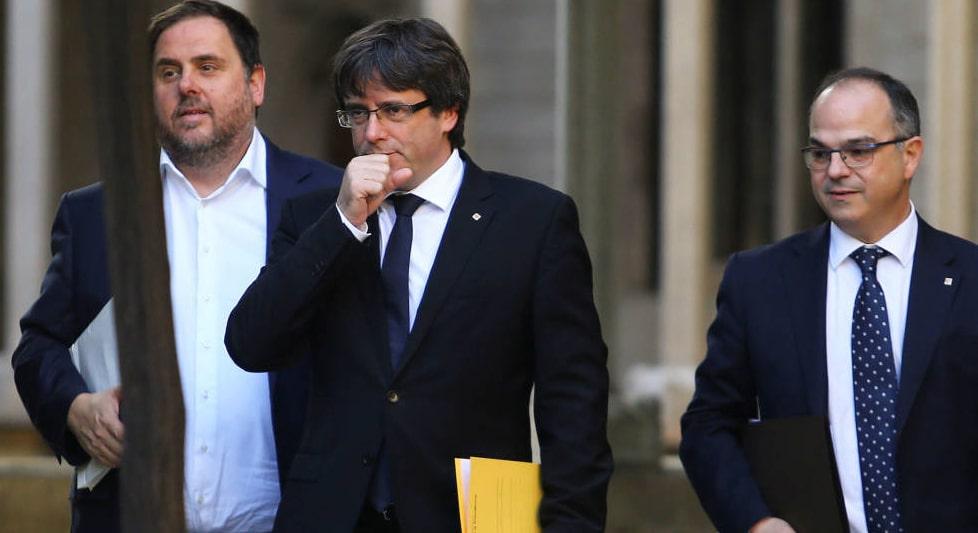 Oriol Junqueras, Carles Puigdemont y Jordi Turull