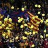 Globos amarillos en el Camp Nou