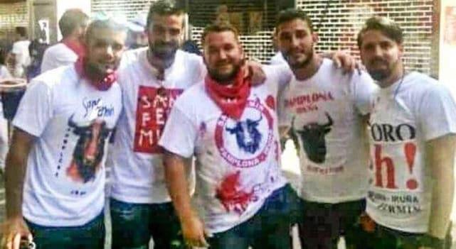 Los cinco integrantes de 'La Manada'