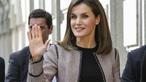 La Reina Letizia a su llegada al acto