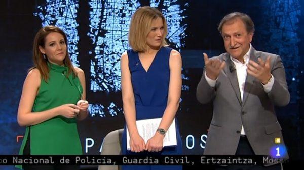 Paco Lobatón junto a Silvia Intxaurrondo y Ana Hinestrosa