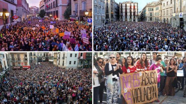 Manifestaciones contra la sentencia a 'La Manada' en Madrid, Barcelona, Pamplona y Sevilla