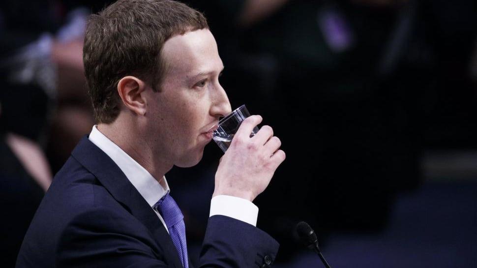 Mark Zuckerberg durante su comparecencia en el Senado de Estados Unidos