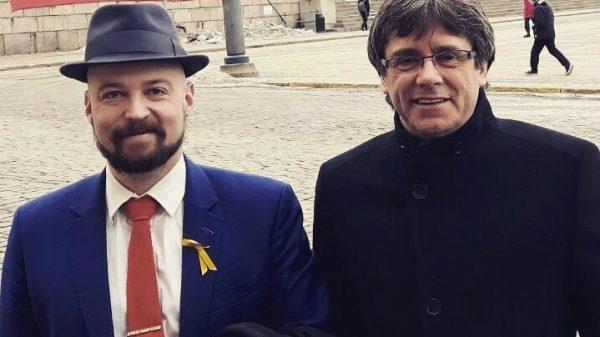 Mikko Karna y Carles Puigdemont hace unos días en Helsinki (Finlandia)