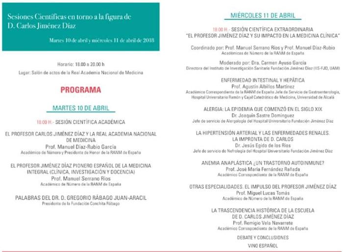 Programa homenaje a Carlos Jiménez Díaz