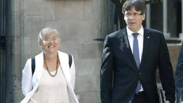 Carles Puigdemont y Clara Ponsatí