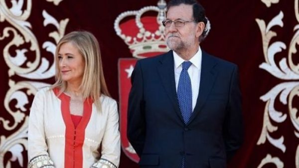 Mariano Rajoy con Cristina Cifuentes