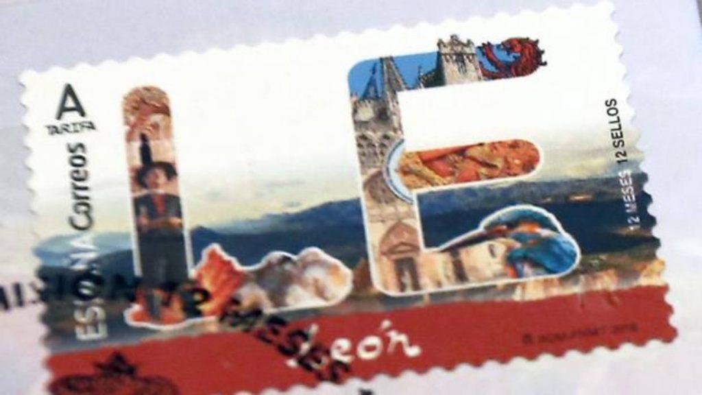 El error como una catedral de correos con su sello for Oficinas de correos en burgos