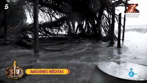 La isla de 'Supervivientes' tras el temporal