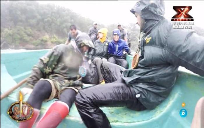 Los supervivientes en su evacuación