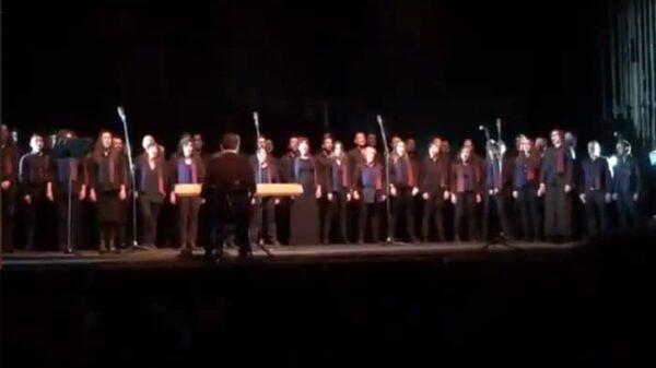 El coro de Voces LGTB en su concierto en el Teatro La Latina