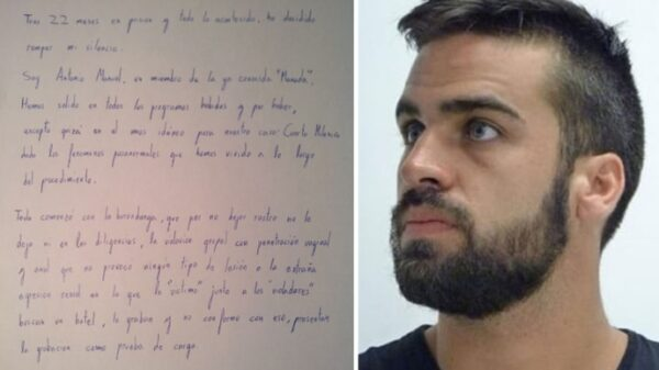 Antonio Manuel Guerrero y un fragmento de su carta