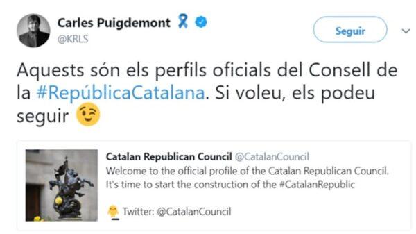 Puigdemont presenta la cuenta del Consejo de la República catalana