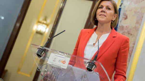 María Dolores de Cospedal en rueda de prensa