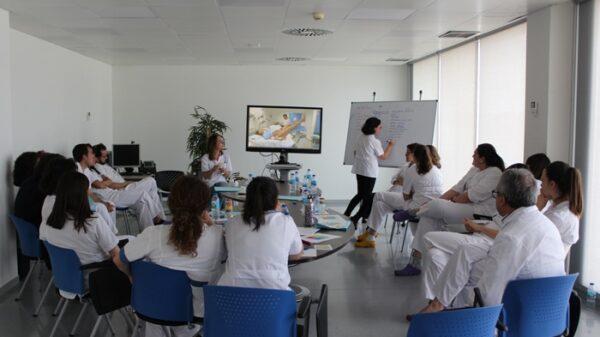 Un momento del curso O-CRM obstétrico
